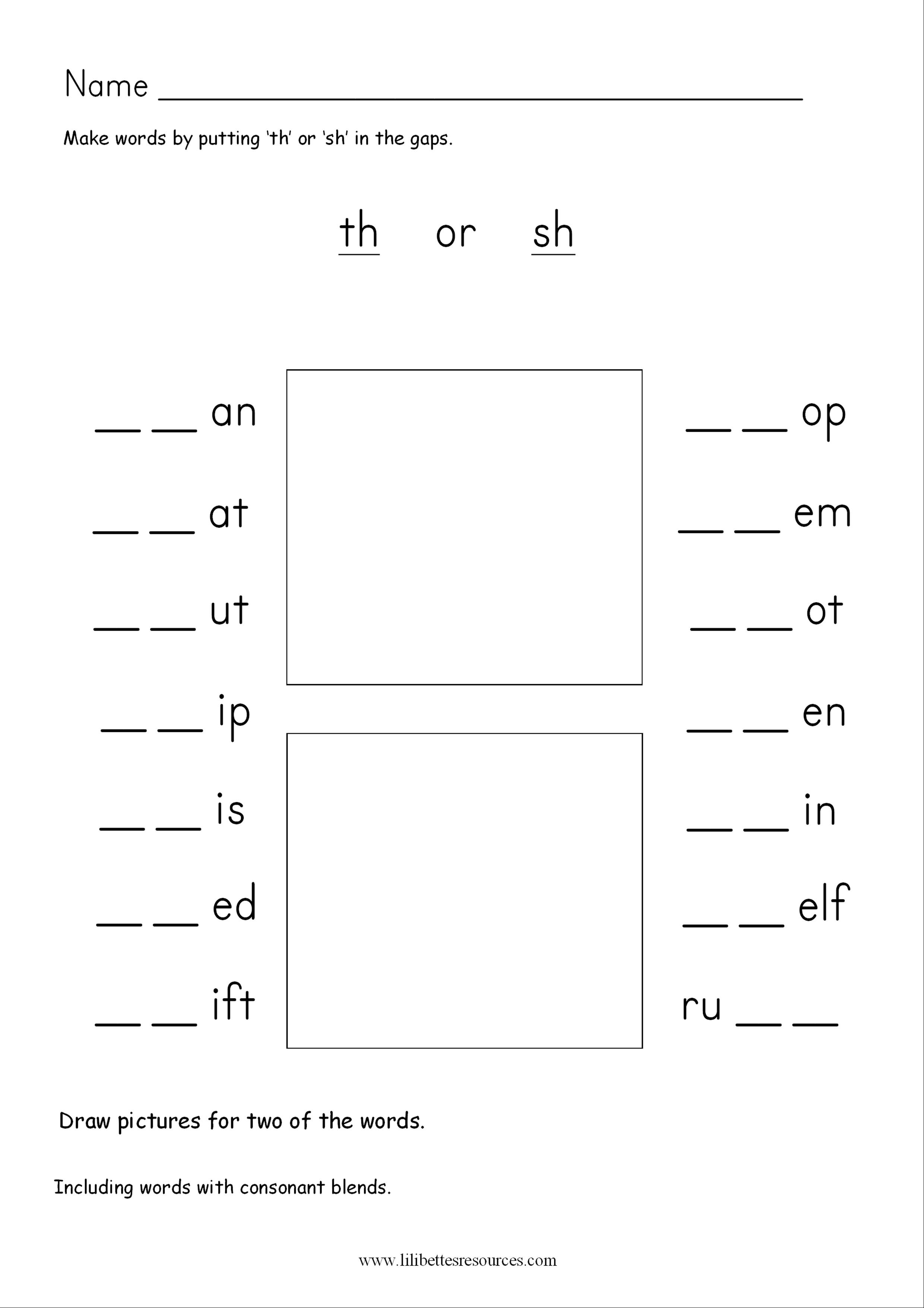 Th Phonics Worksheets