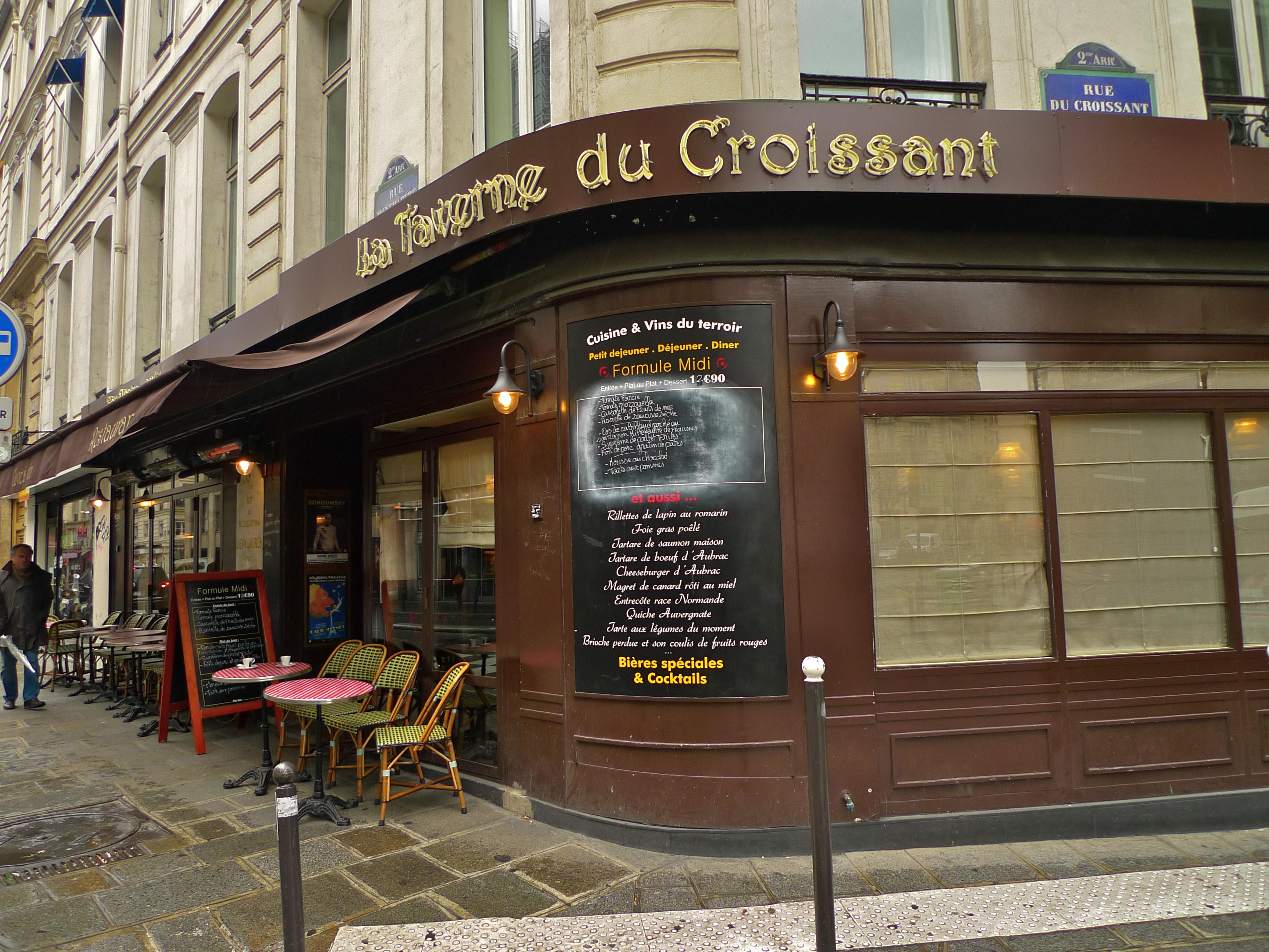 cafe du croissant rue montmartre