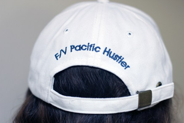 F/V Pacific Hustler Embroidery on back of cap