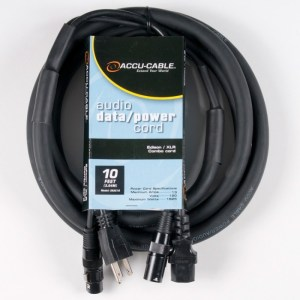 AC/XLR Audio Combo Cables