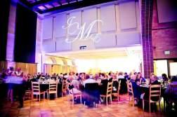 Uplighting & monogram for wedding