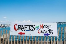 Newport Folk Festival Crafts Sign by Jon Simmons