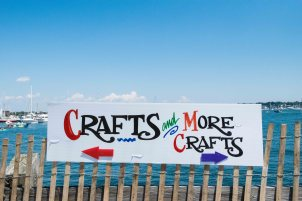 Newport Folk Festival Crafts Sign by Jon Simmons