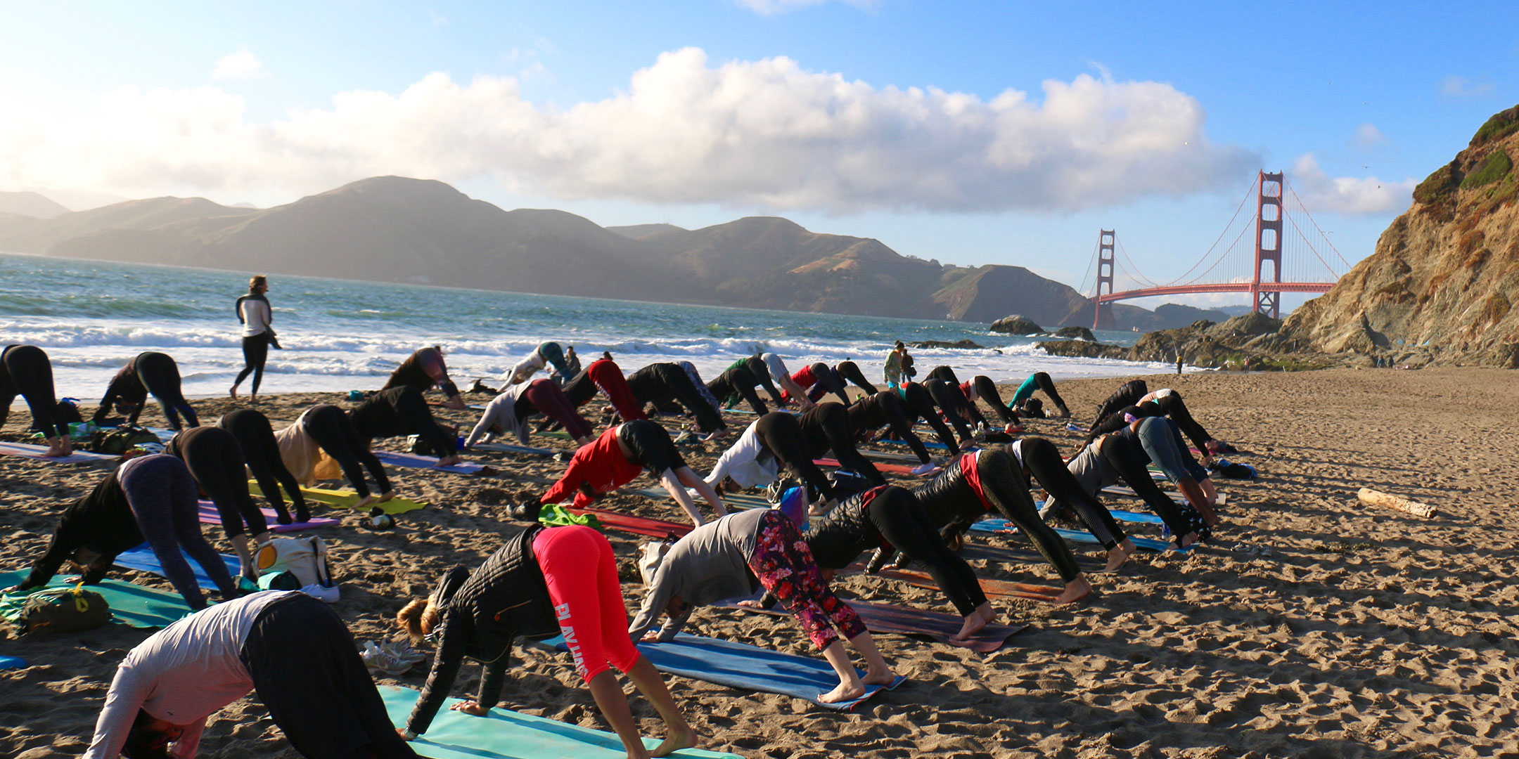 Sound Off™ Sunset Silent Disco Yoga with Outdoor Yoga - San Francisco