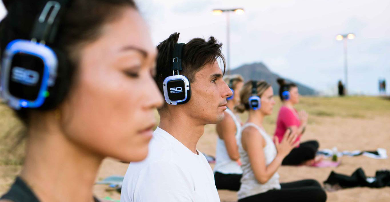 silent disco yoga flow