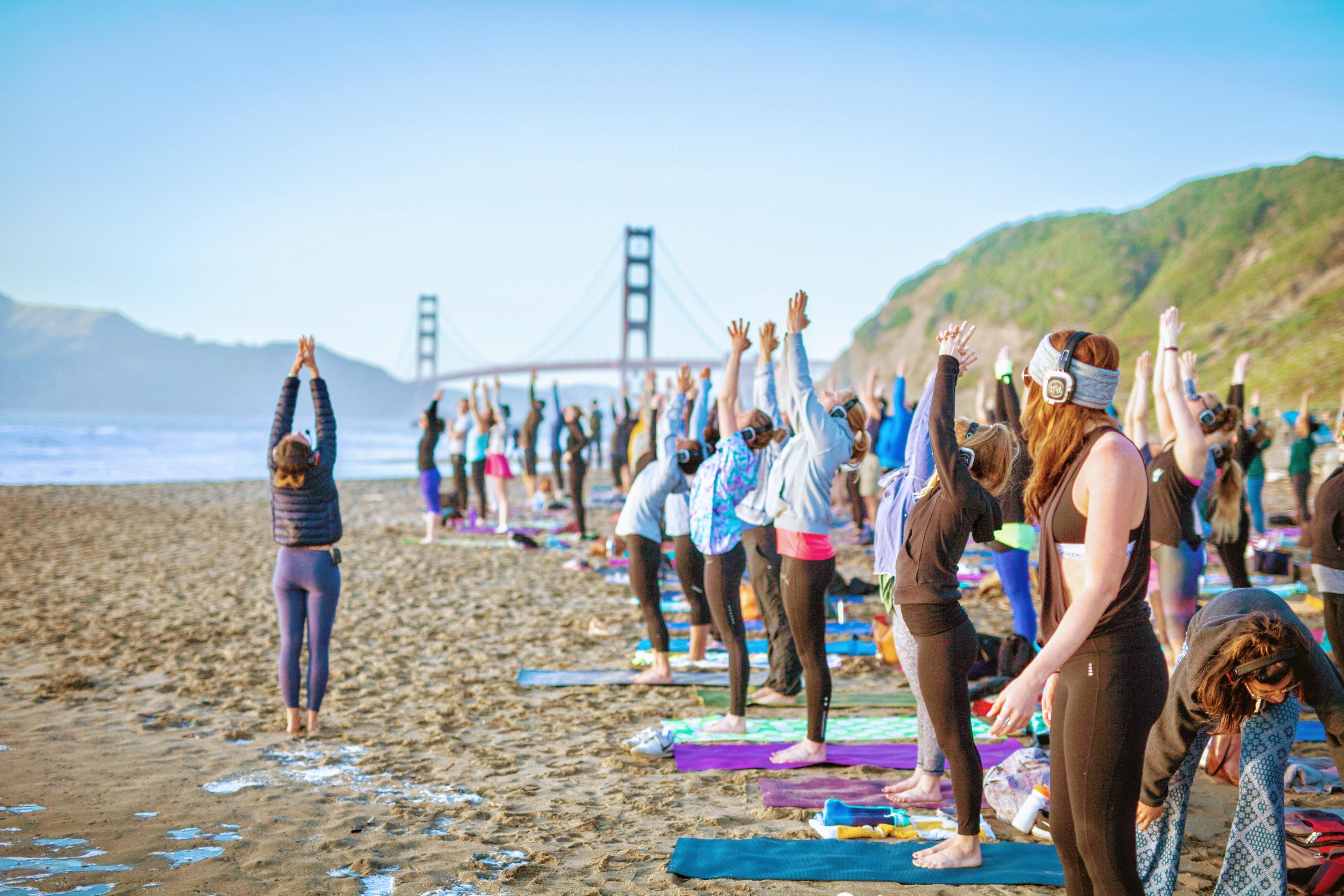 Saturday Groove Beach Yoga with Kirin Power