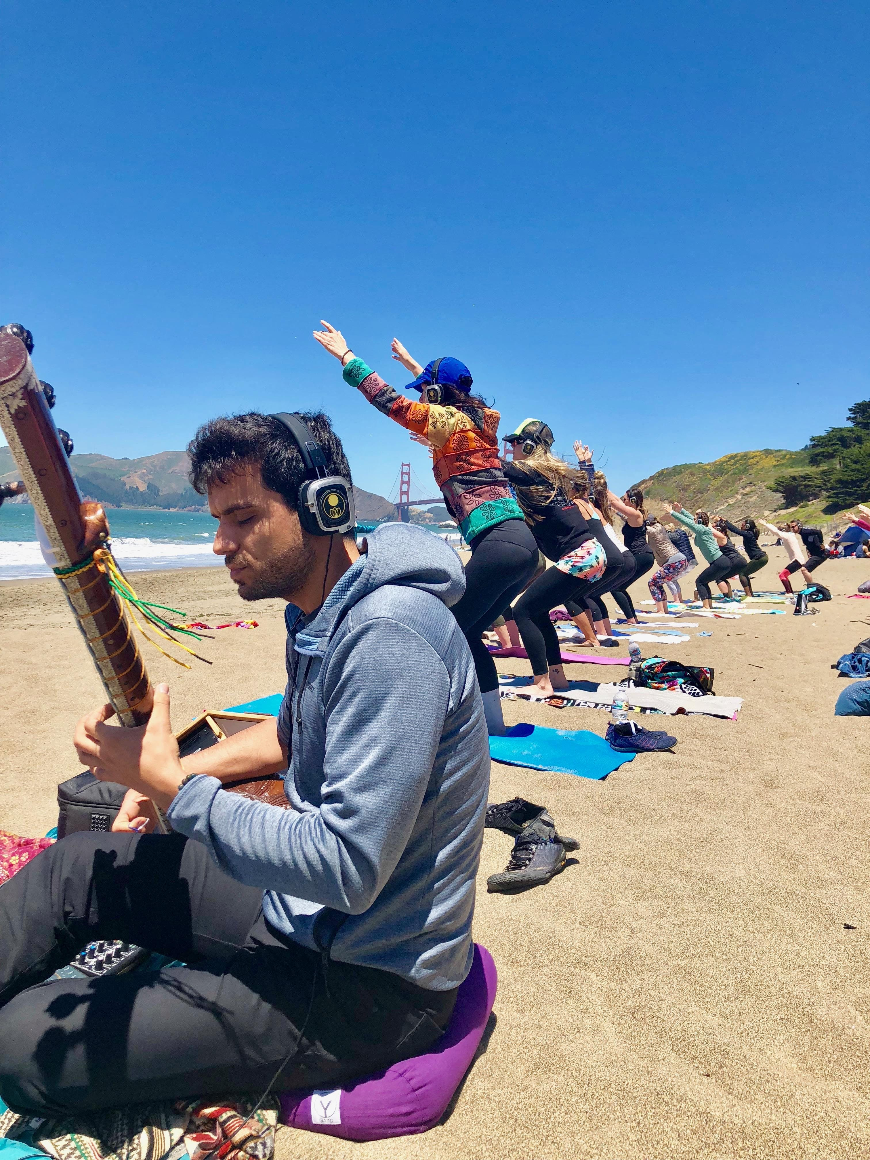 Sunday Zen :: Beach Yoga with Julianne and live music by Ege Sanli!!