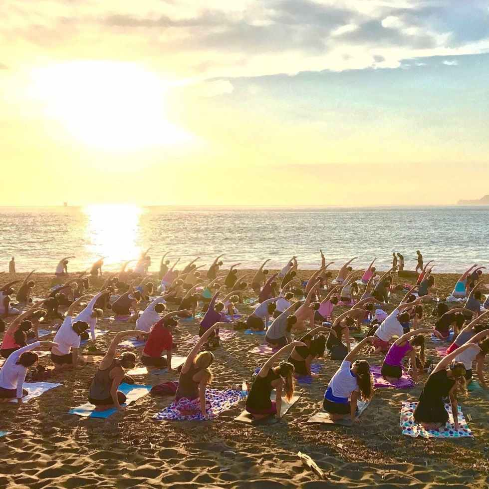 Silent Beach Yoga with Nat Kendall and LIVE music by Madhu!