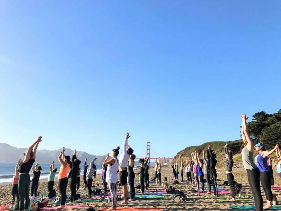 Saturday Groove: Beach Yoga with Julianne