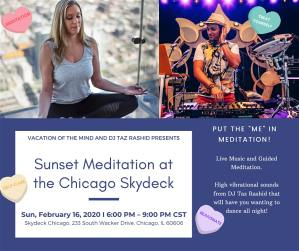 Sunset Meditation at the Chicago Skydeck - Willis Tower