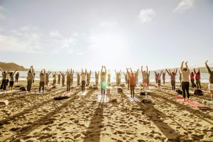 Saturday Groove Beach Yoga with Sarah!