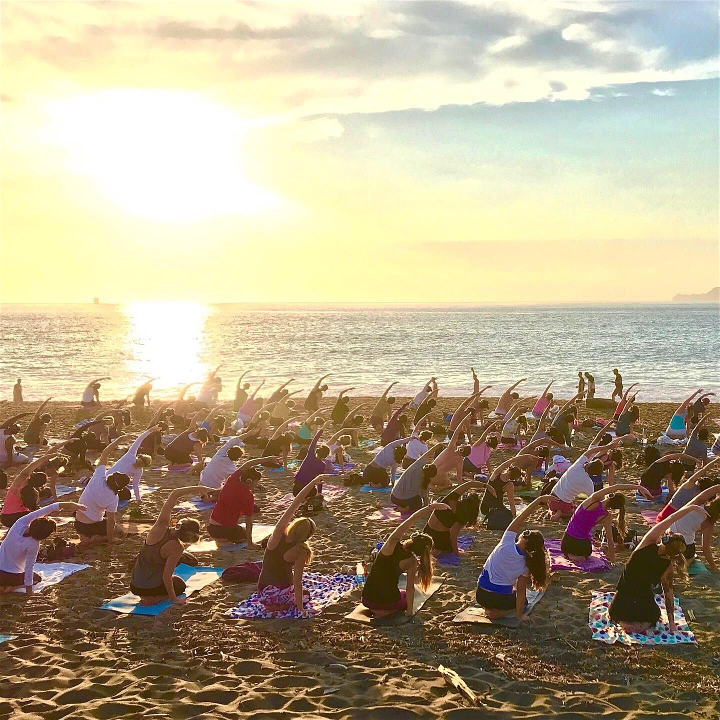 Sunset yoga + sacred sound with Nat Kendall and LIVE music by Madhu
