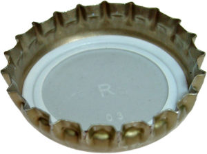 A generic 21-tooth crown cork bottle cap