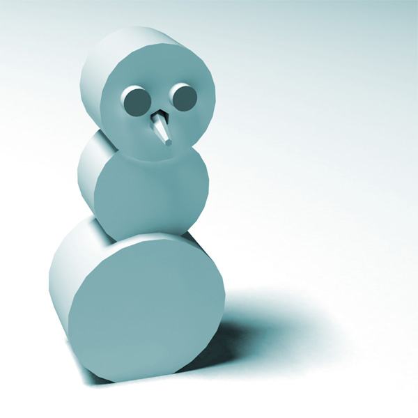 A stylised snowman