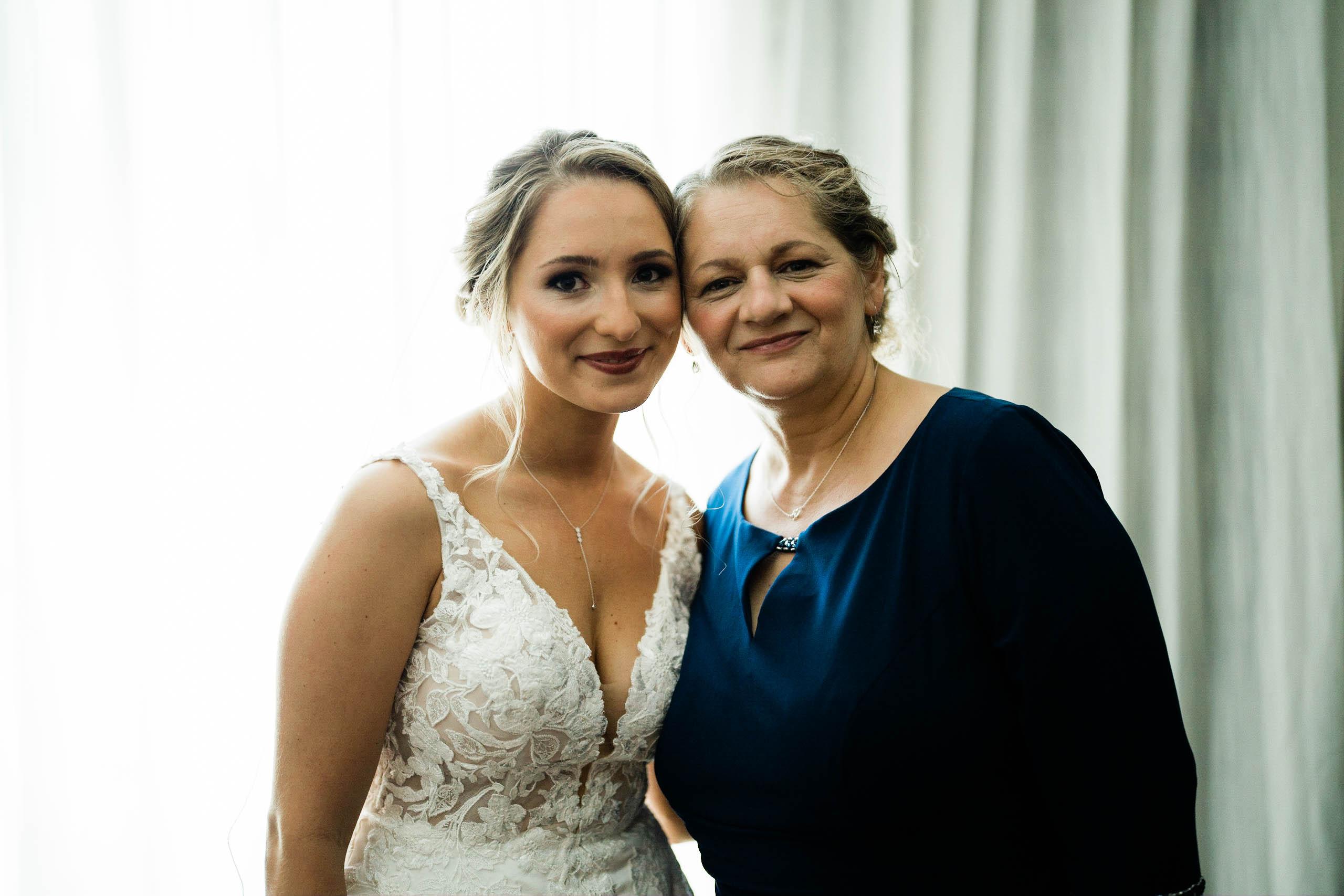 mom and bride at craven farm in snohomish washington