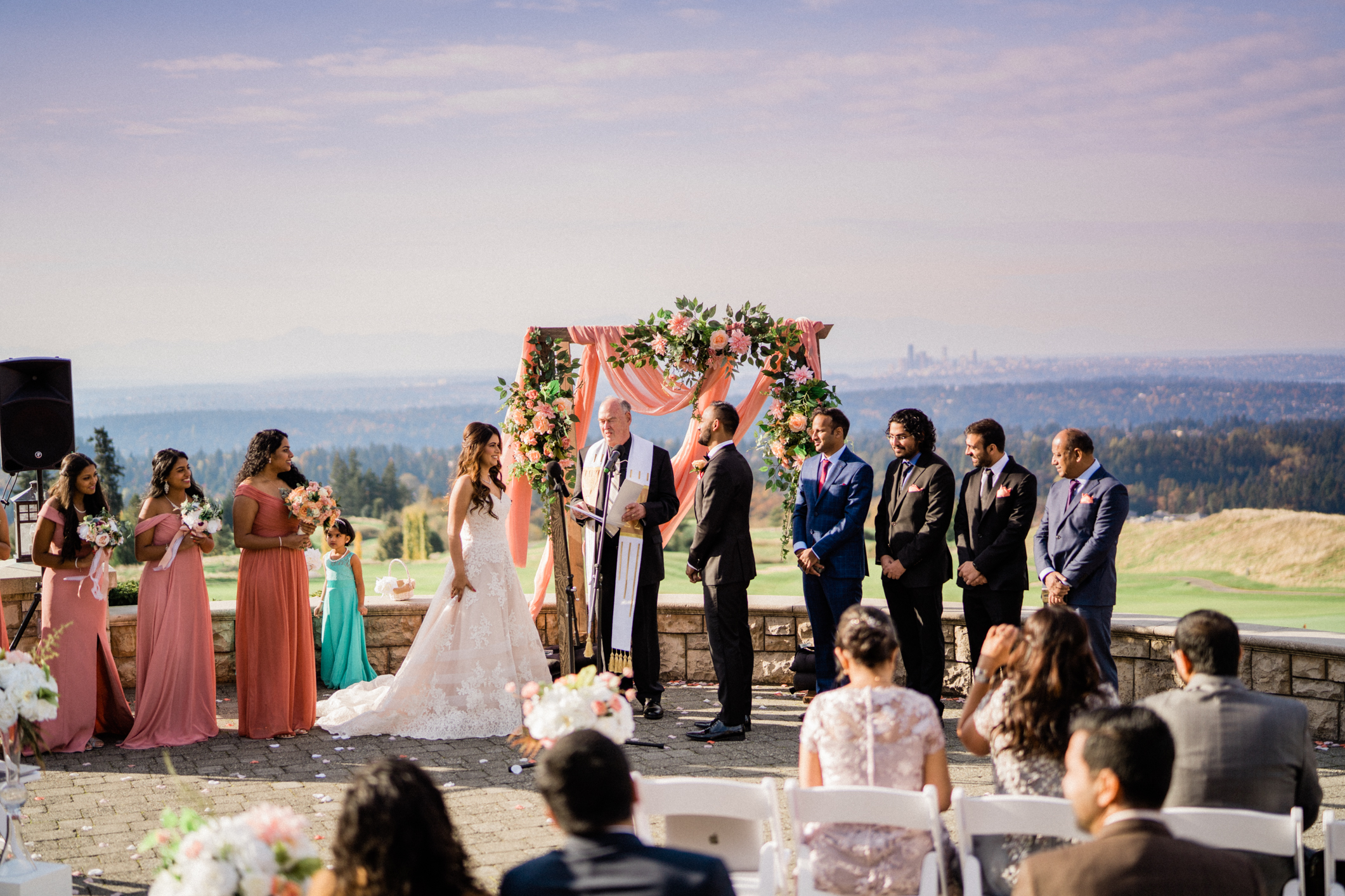 ceremony located outside the prestwick terrace at Newcastle golf club