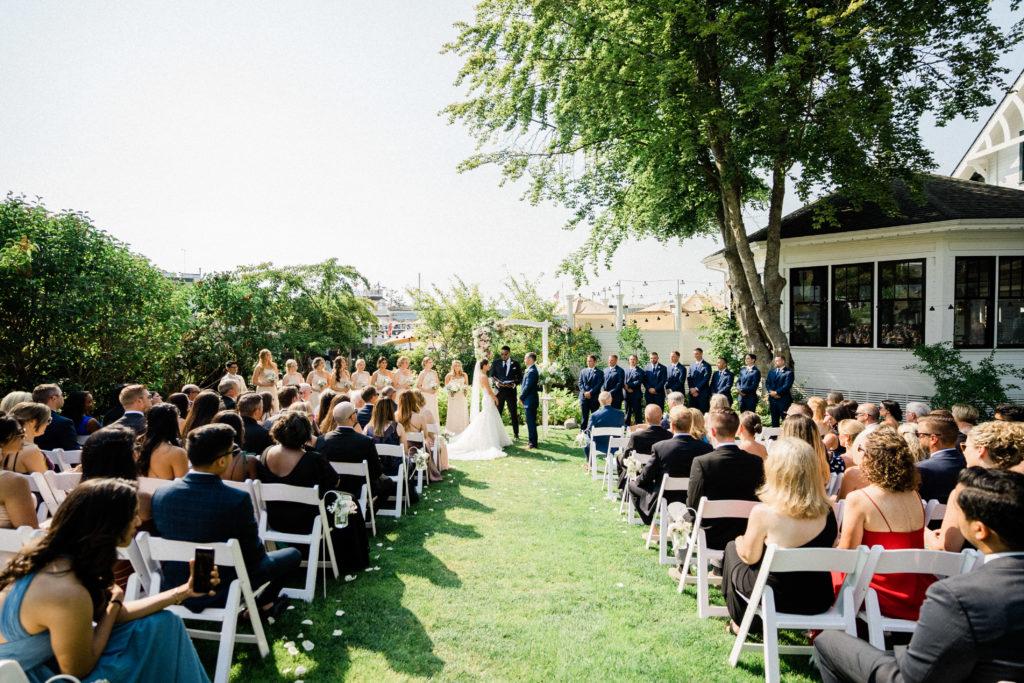 Roche Harbor Resort wedding ceremony near hotel de haro