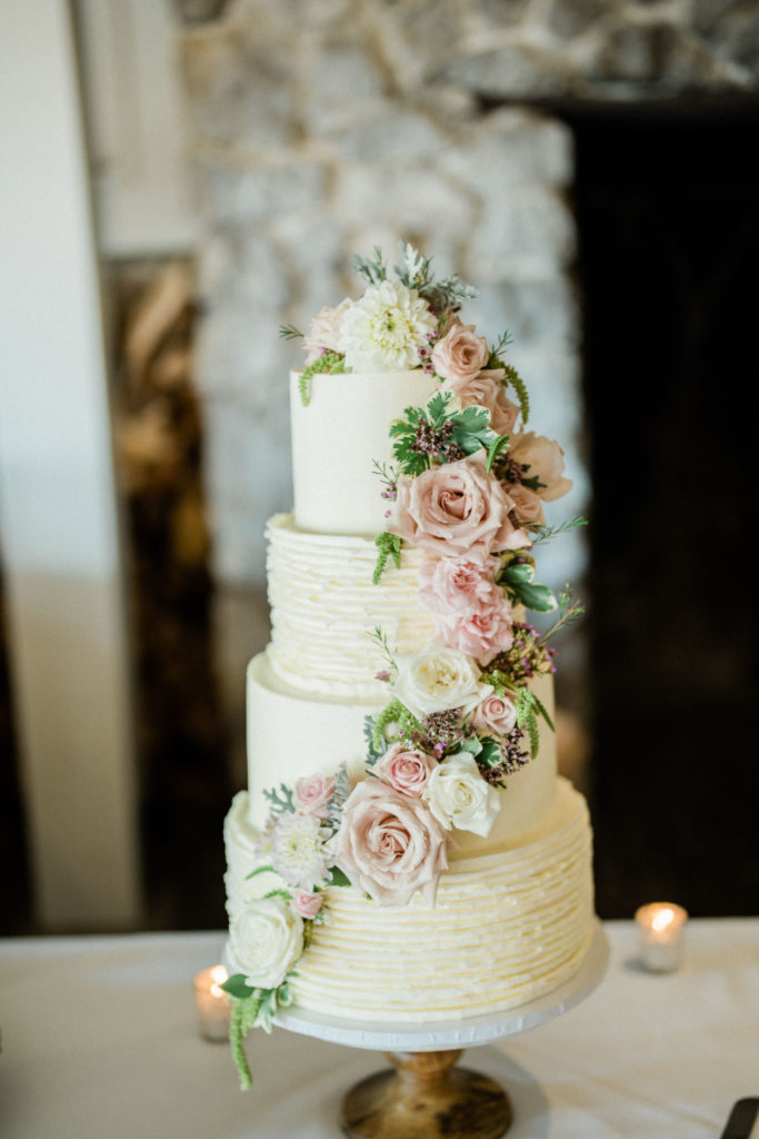 wedding cake at Roche Harbor Resort wedding
