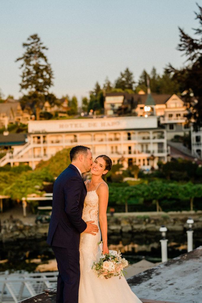 roche harbor resort wedding photographer takes romantic pictures