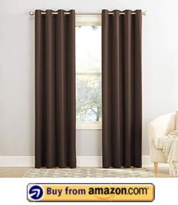 Sun Zero Barrow Energy Efficient Grommet Curtain