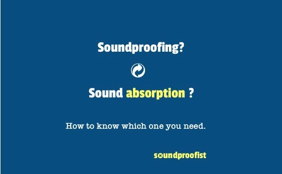 The difference between soundproofing and sound absorption