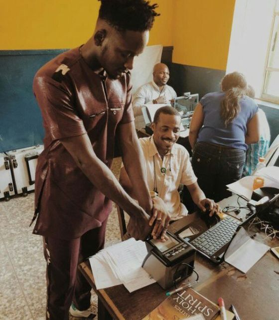 Mr Eazi Registers To Get His PVC, Encourages Everyone To Do So