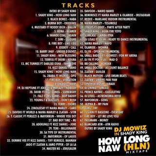 DJ Mowiz ft. Shady King - How Long Naw (HNL Mix) Tracklist