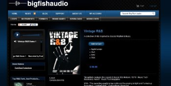 Vintage RnB samples from Big Fish Audio
