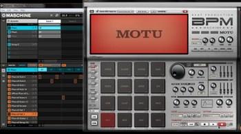 Motu BPM and NI Maschine working together