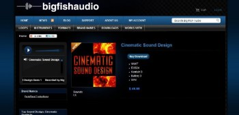 Cinematic Sound Design library from Big Fish