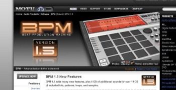 Motu BPM 1.5 software update overview