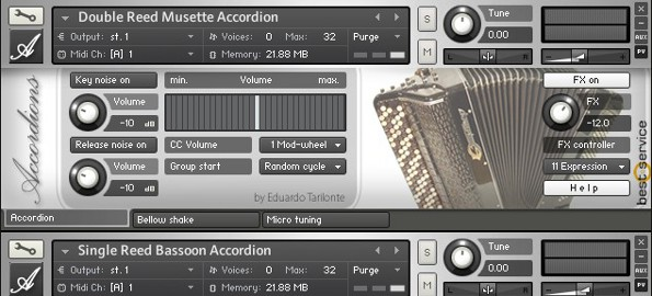 Best Service Accordions Kontakt library review