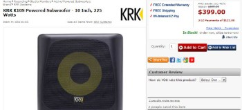 KRK K10S Powered Subwoofer review