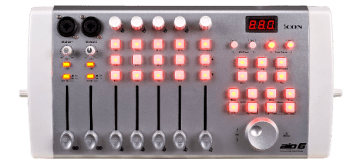 Review of the AIO 6 USB audio interface and DAW controller from Icon Digital