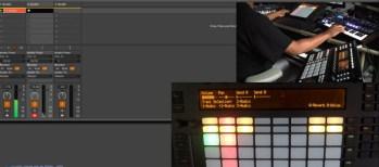 Ableton Push recording fixed length audio clips with Maschine & Mininova