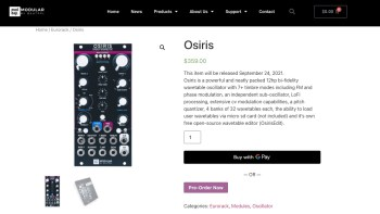 OSIRIS – Bi-Fidelity Wavetable Osc by Modbap Modular