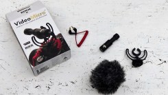 Rode VideoMicro with Rycote Lyre and WS9 dead cat