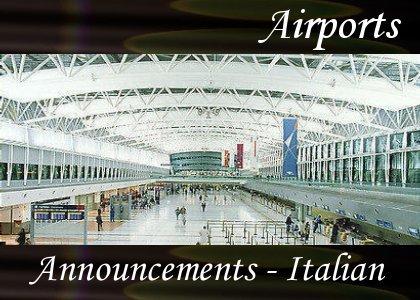 SoundScenes - Atmo-Airport - Announcements, Italian