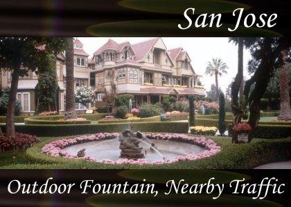 SoundScenes - Atmo-California - San Jose, Outdoor Fountain, Nearby Traffic
