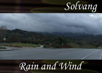 SoundScenes - Atmo-California - Solvang, Rain and Wind