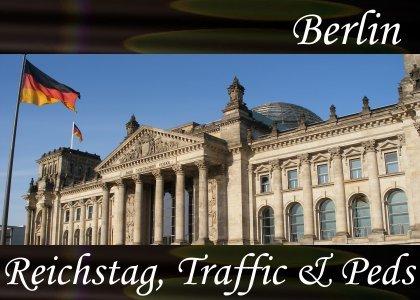 Reichstag Traffic and Pedestrians