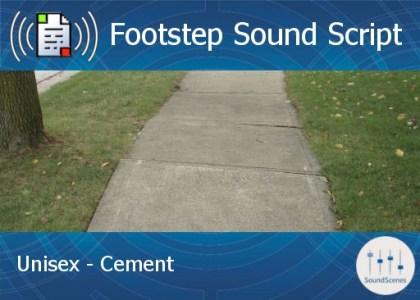 footstep script - unisex - cement