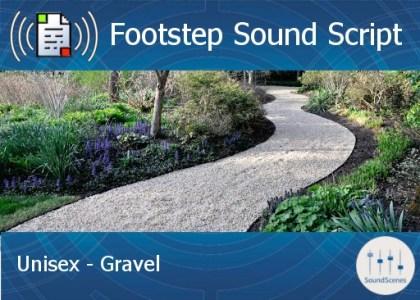 footstep script - unisex - gravel