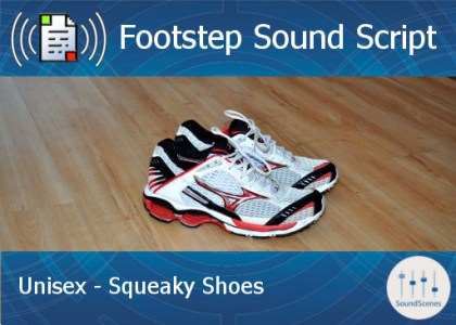 footstep script – unisex – squeaky shoes
