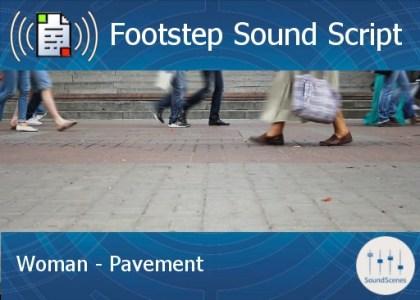 footstep script - woman - pavement