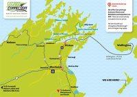 marlborough sounds tours - pick up map