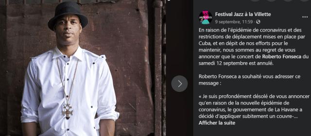 Roberto Fonseca, Grand Absent du Festival Jazz à la Villette 1