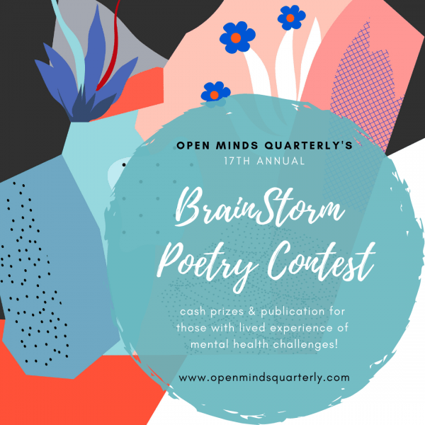 Poster for the poetry contest , different colour shapes and flowers [Text in the post]