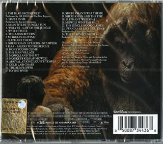 The Jungle Book Soundtrack Back Cover