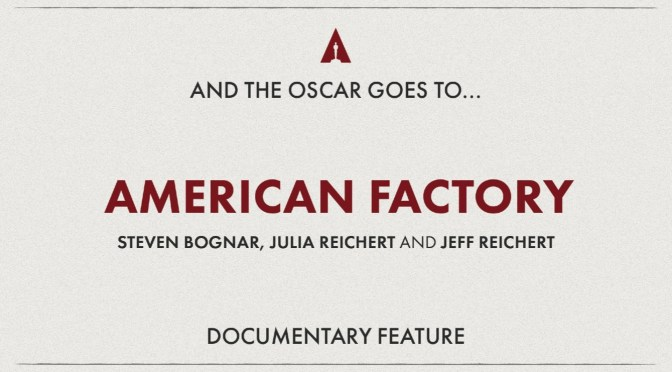 Oscars 2020: Lakeshore Partner 'American Factory' Wins Best Documentary!
